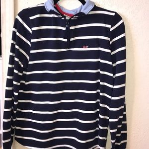 vineyard vine half zip up